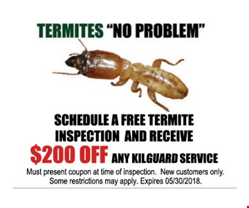 Schedule a Free Termite Inspection and Receive $200 Off Any Kilguard Service