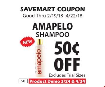 50¢ off Amapelo Shampoo. SAVEMART COUPON Good Thru 2/19/18-4/22/18