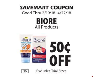 50¢ off Biore. SAVEMART COUPON Good Thru 2/19/18-4/22/18