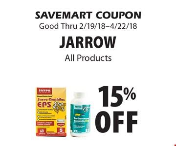 15% off Jarrow. SAVEMART COUPON Good Thru 2/19/18-4/22/18