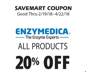 20% off All Products. SAVEMART COUPON Good Thru 2/19/18-4/22/18