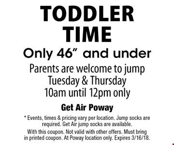 Toddler Time Only 46