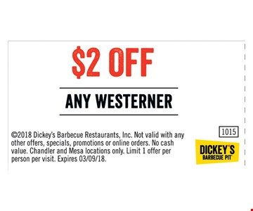 $2 off any westerner