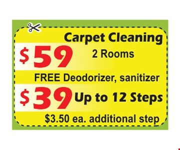 $59 Carpet Cleaning or $39 Up To 12 Steps
