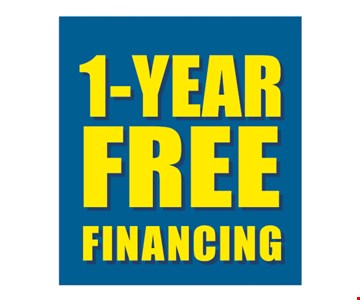 1 Year free financing