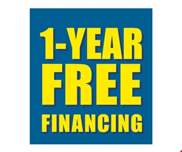 1-year FREE Financing