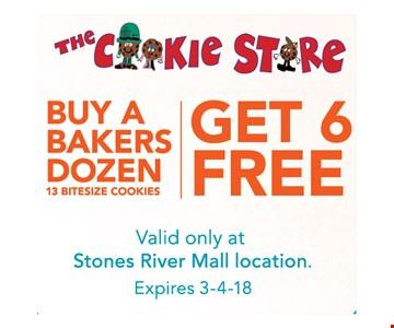 Buy a bakers dozen get 6 free