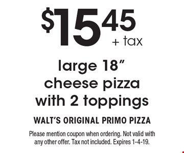 $15.45+ tax large 18