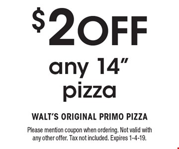 $2 Off any 14