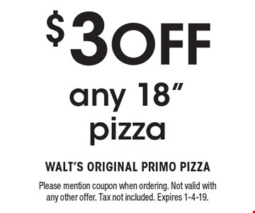 $3 Off any 18
