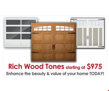 Rich wood tones starting at $975
