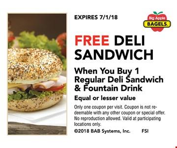 Free deli sandwich