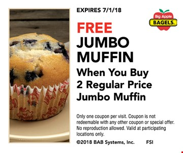 Free jumbo muffin