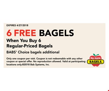 6 free bagels