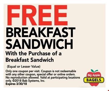 free breakfast sandwich