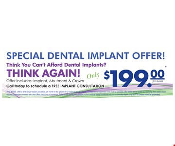 Special Dental Implant Offer $199.00
