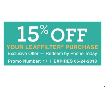 15% Off your Leaf Filter purchase