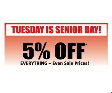5% Off for seniors