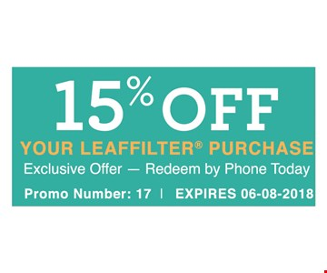 15% off your Leafilter purchase