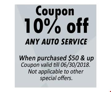 10% off any auto service
