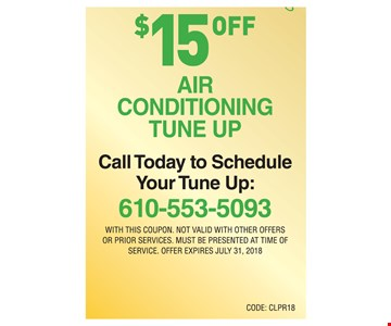 $15.99 Air Conditioning Tune Up