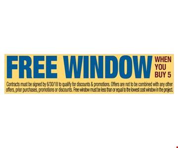 Free window when you buy 5