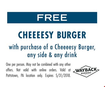 Free Cheeeesy burger
