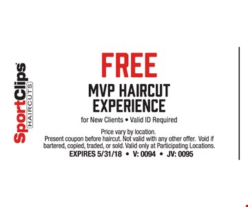 FREE MVP haircut  - New clients