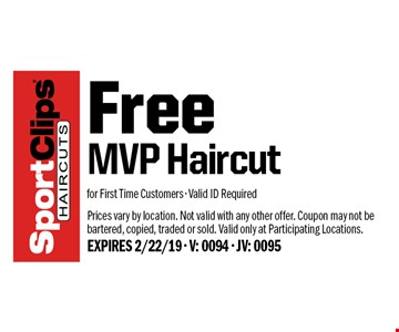 sport clips free mvp haircut for first time customers valid id required prices