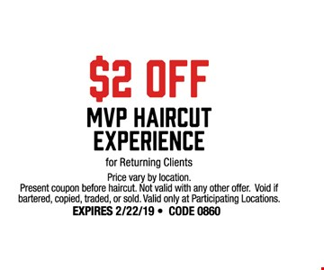 sport clips 2 off mvp haircut experience for returning clients prices vary by location
