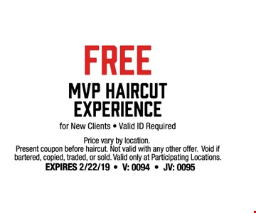 sport clips free mvp haircut experience for new clients valid id required prices