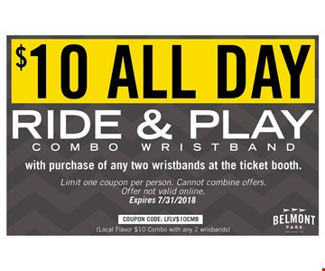 $10 All Day Pass with purchase