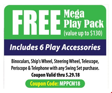 Free Mega Play Pack with purchase