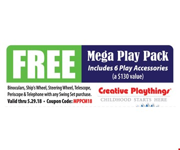 Free Mega Play Pack. Includes 6 Play Accessories (a $130 Value)