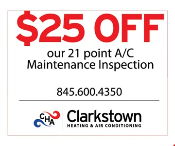 $25 off our 21 point AC maintenance inspection