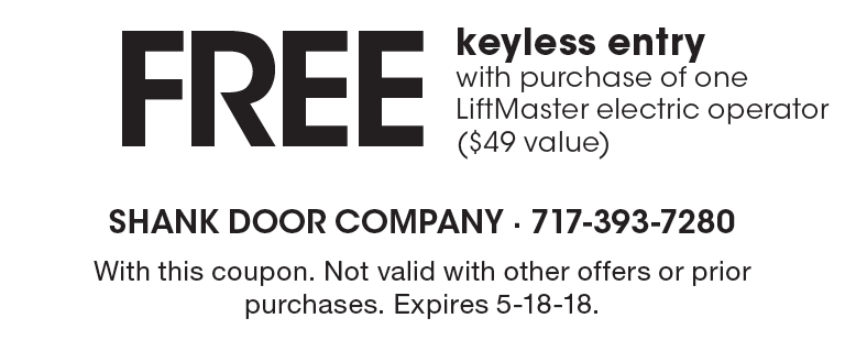 SHANK DOOR FREE keyless entry with purchase of one LiftMaster electric operator ($49 value  sc 1 st  Local Flavor & LocalFlavor.com - SHANK DOOR Coupons