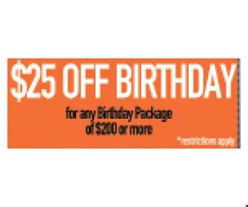 $25 off Birthday