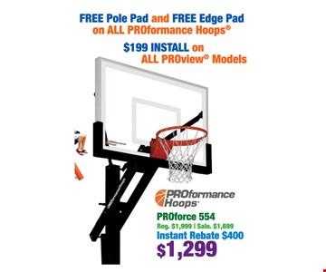 free pole pad and free edge pad