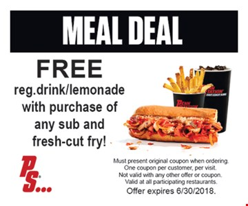 Free drink with purchase.