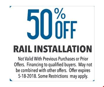 50% RAIL INSTALLATION