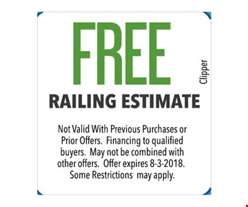Fee railing estimate. Not valid with previous purchases or prior offers. Financing to qualified buyers. May not be combined with other offers. Some restrictions may apply.