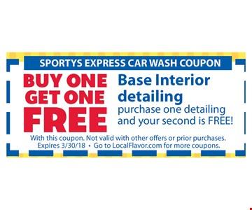 Buy one get one Free base interior detailing