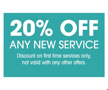 20% Off Any New Service