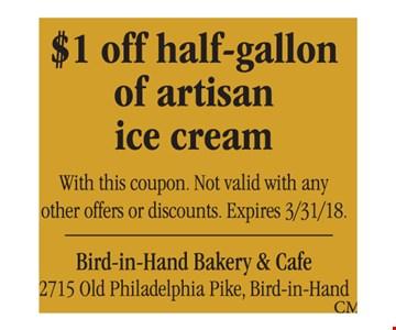 $1 off half-gallon of artisan ice cream