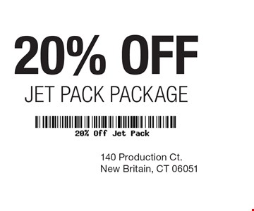 20% off Jet Pack Package