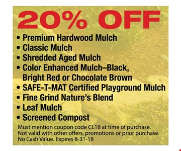 20% Off Mulch & Compost