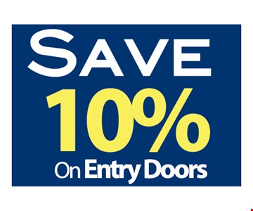 Save 10% on Entry Doors