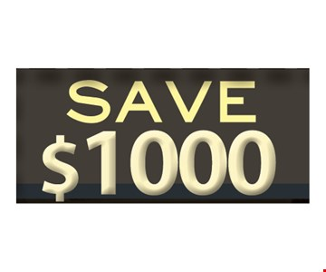 Save $1000 on walk-in tubs
