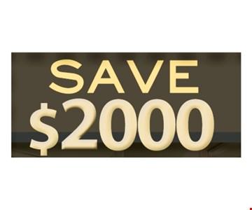 Save $2000 on full bath remodel