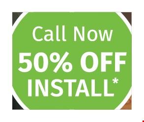 50% off install